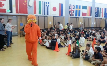 ASK THE LORAX - The Earth's most special friend, The Lorax, visited Napa Valley Language Academy after he heard they had won $500 from Napa Recycle and Waste for being really GREEN in 2013!