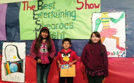 SHEARER'S GOT TALENT - Dyan, Cruz and Ashanti were some of the winners in the visual arts division of Shearer's fourth annual talent show. Eight winners were selected from over 60 entries. The show also included performances by talented Shearer staff and students.