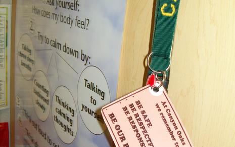 Canyon Oaks Reminder Card (on staff lanyards)